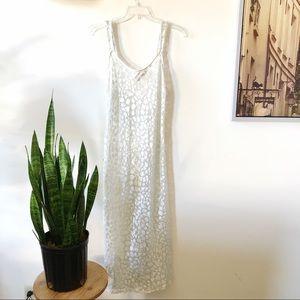 Valentino Intimo white velvet burnout slip dress